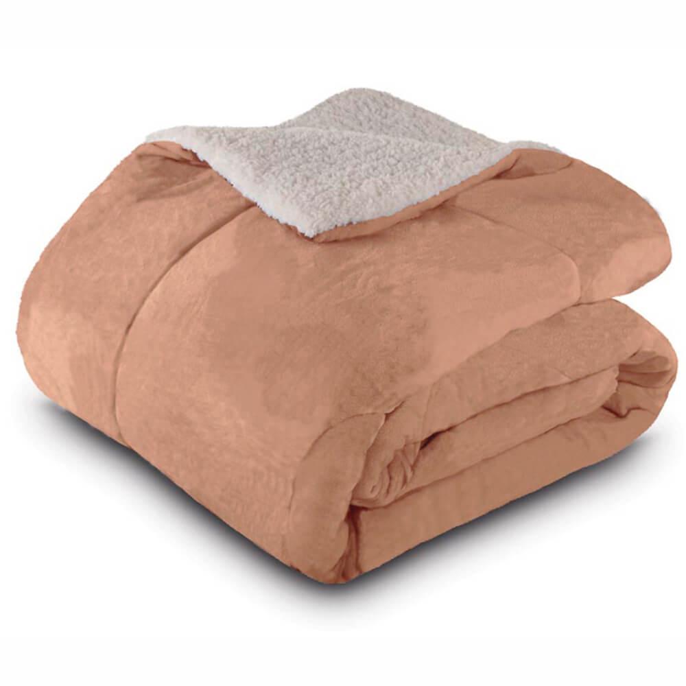 Cobertor Casal Dupla Face Bege