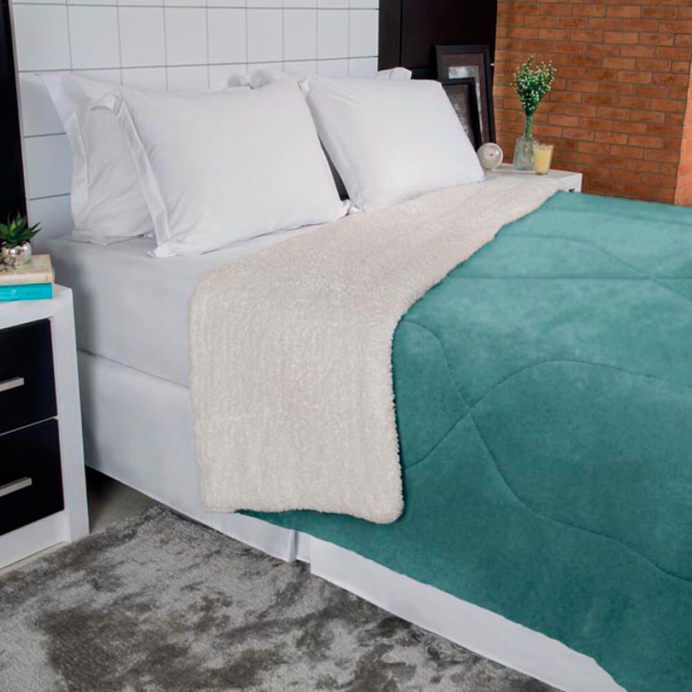 Cobertor Casal Dupla Face Esmeralda