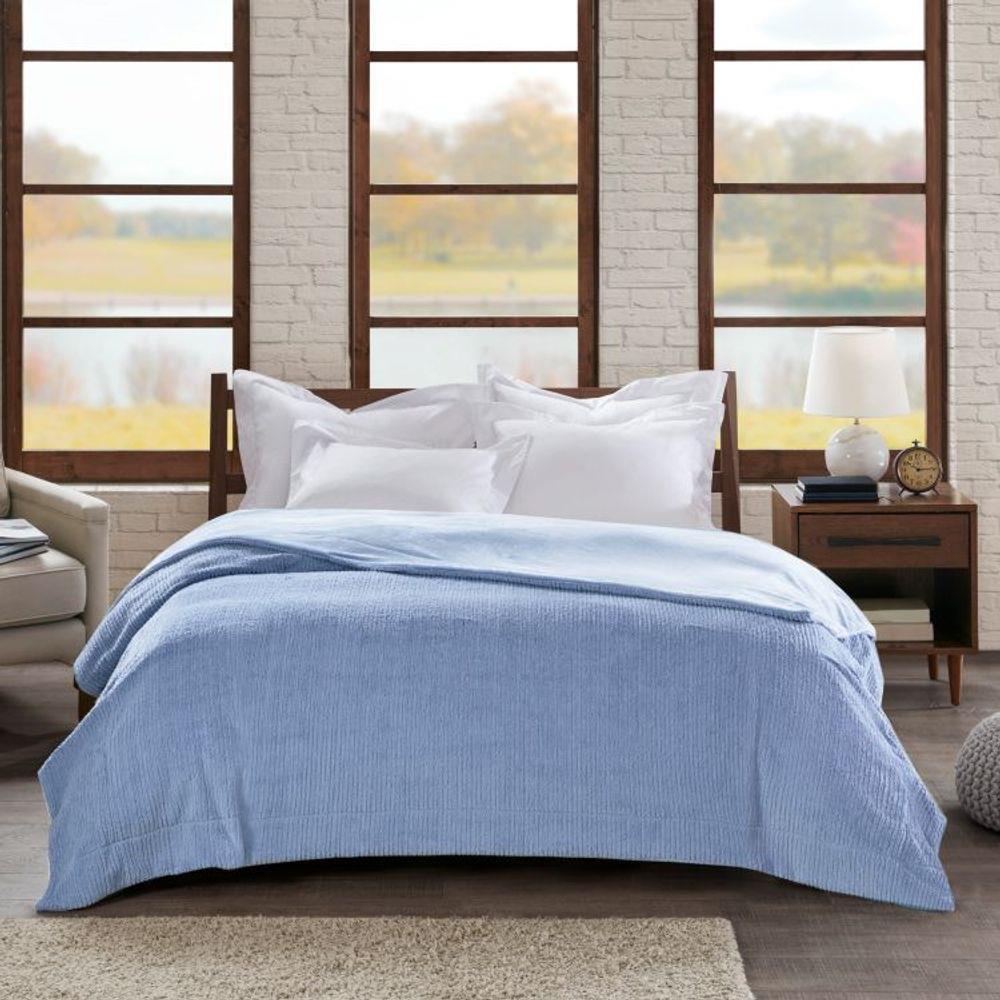 Cobertor Casal Home Design Ilford Azul