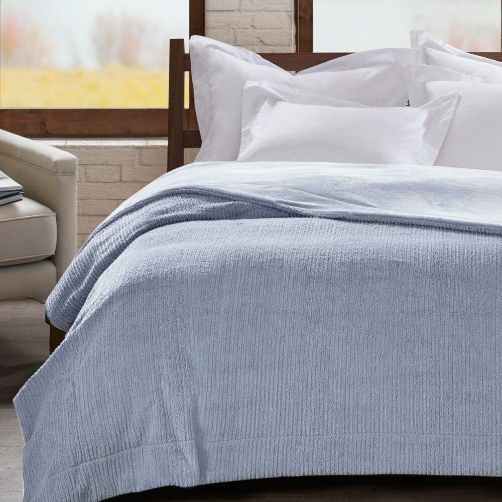 Cobertor Casal Home Design Ilford Azul Niágara
