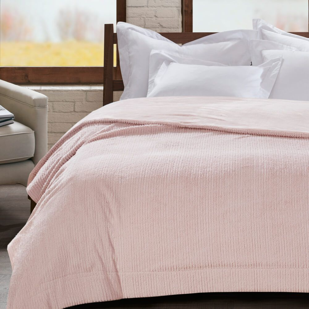 Cobertor Casal Home Design Ilford Rosa Malva