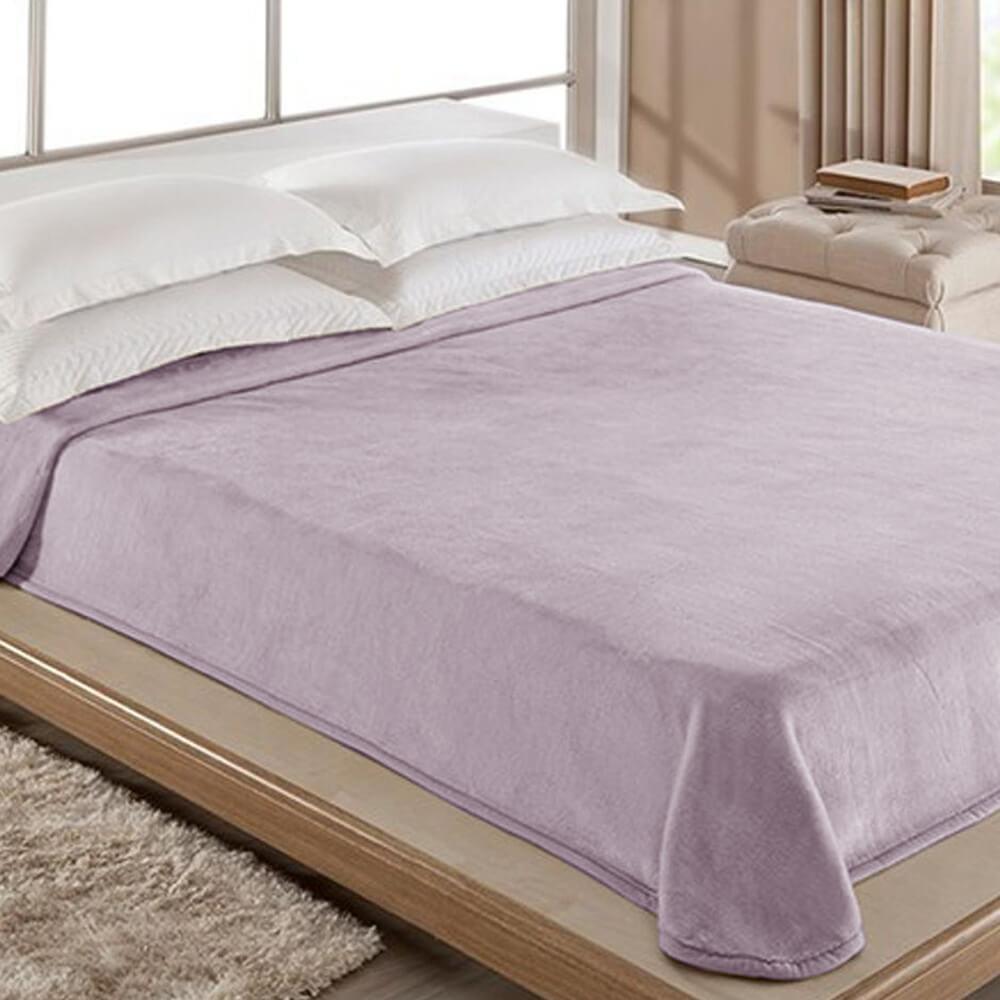 Cobertor Casal Home Design Lilás