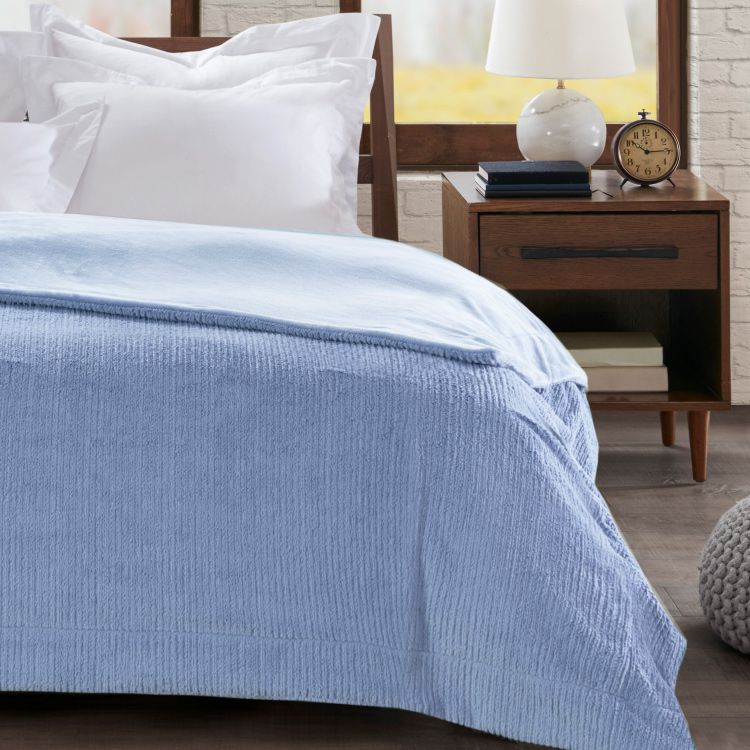 Cobertor King Home Design Ilford Azul Niágara