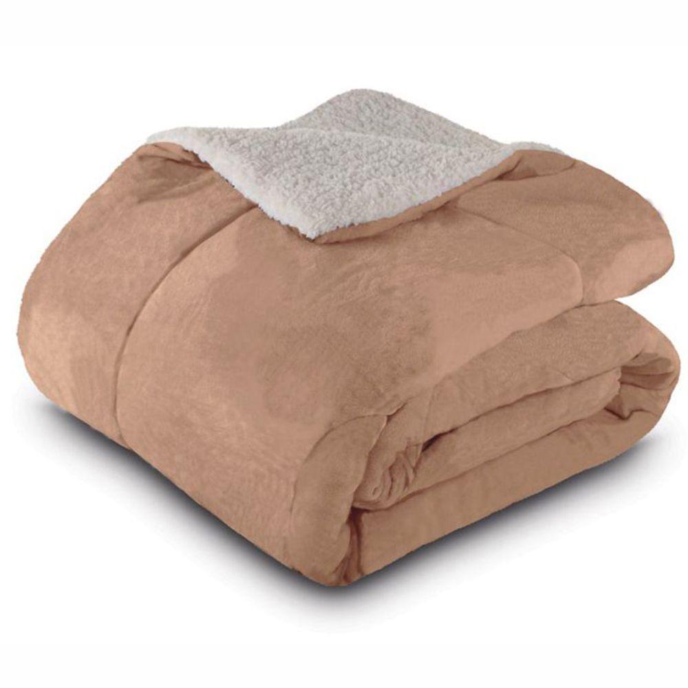 Cobertor Queen Dupla Face Bege
