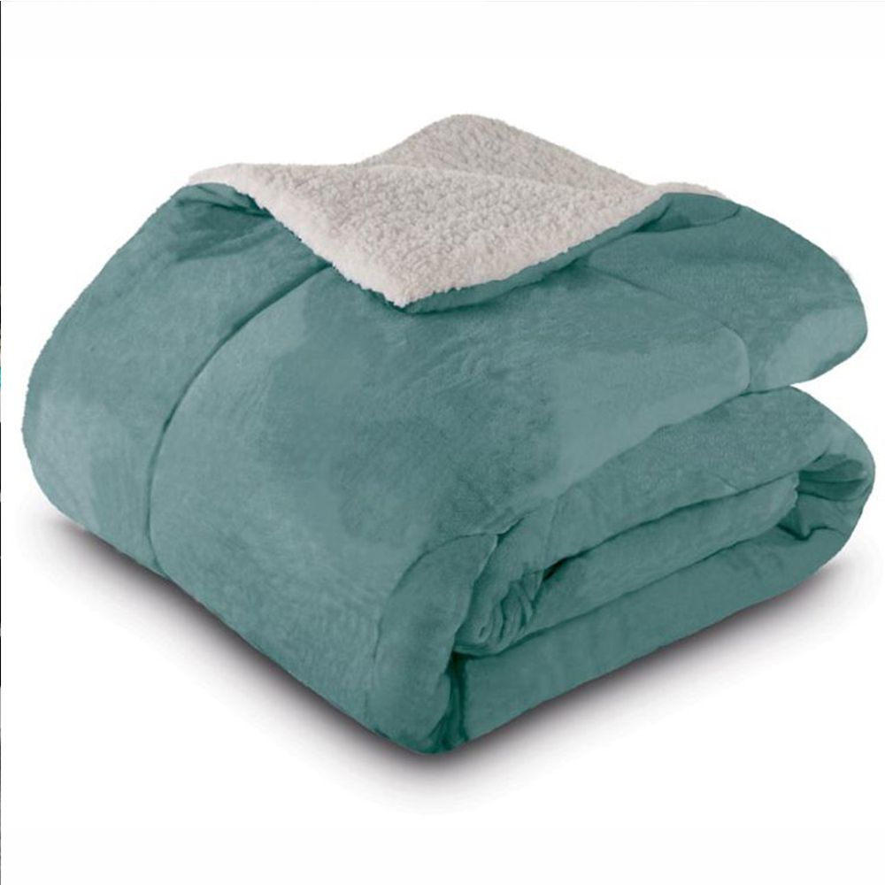 Cobertor Queen Dupla Face Esmeralda