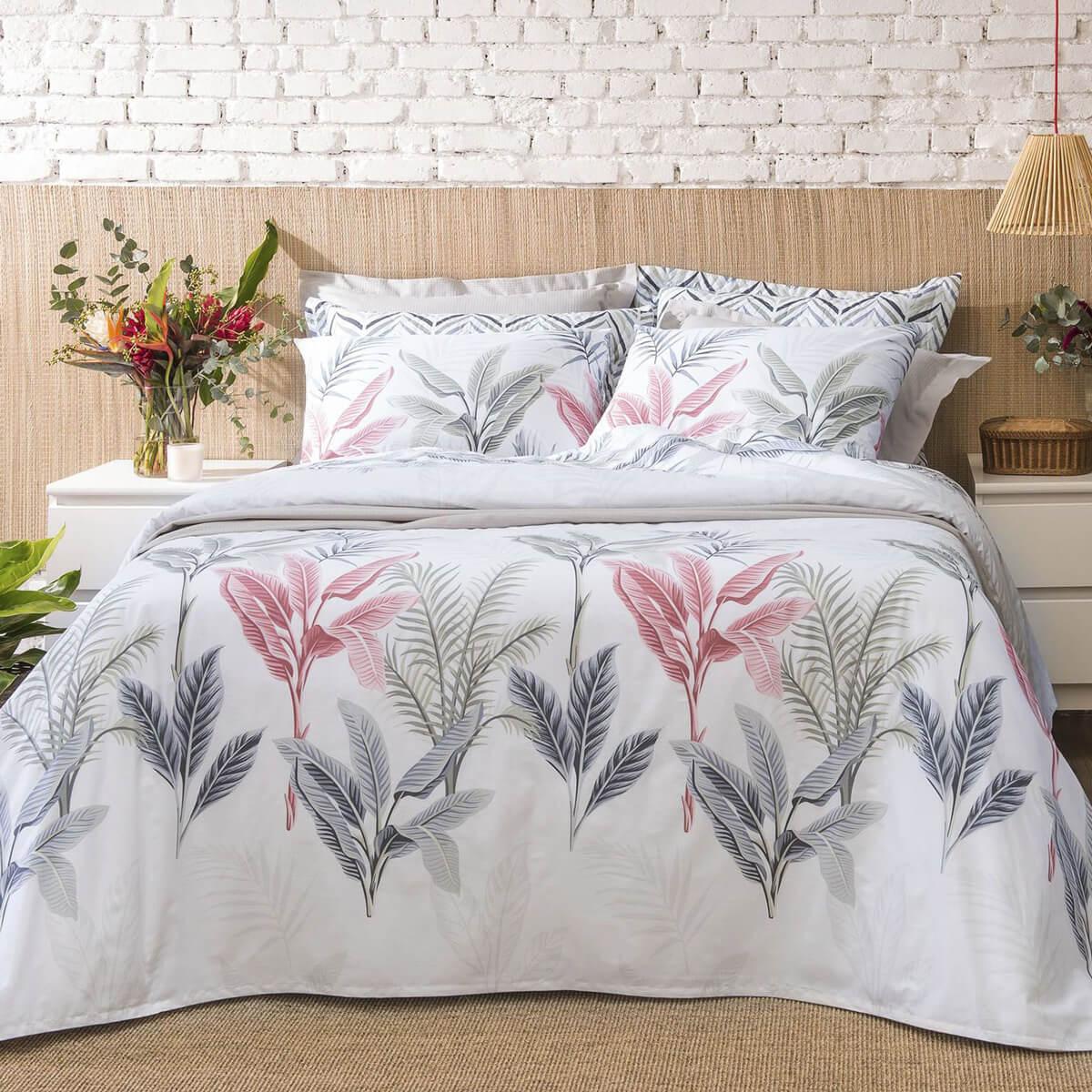 Cobre Leito King 3 Peças Dupla Face Home Design Palm