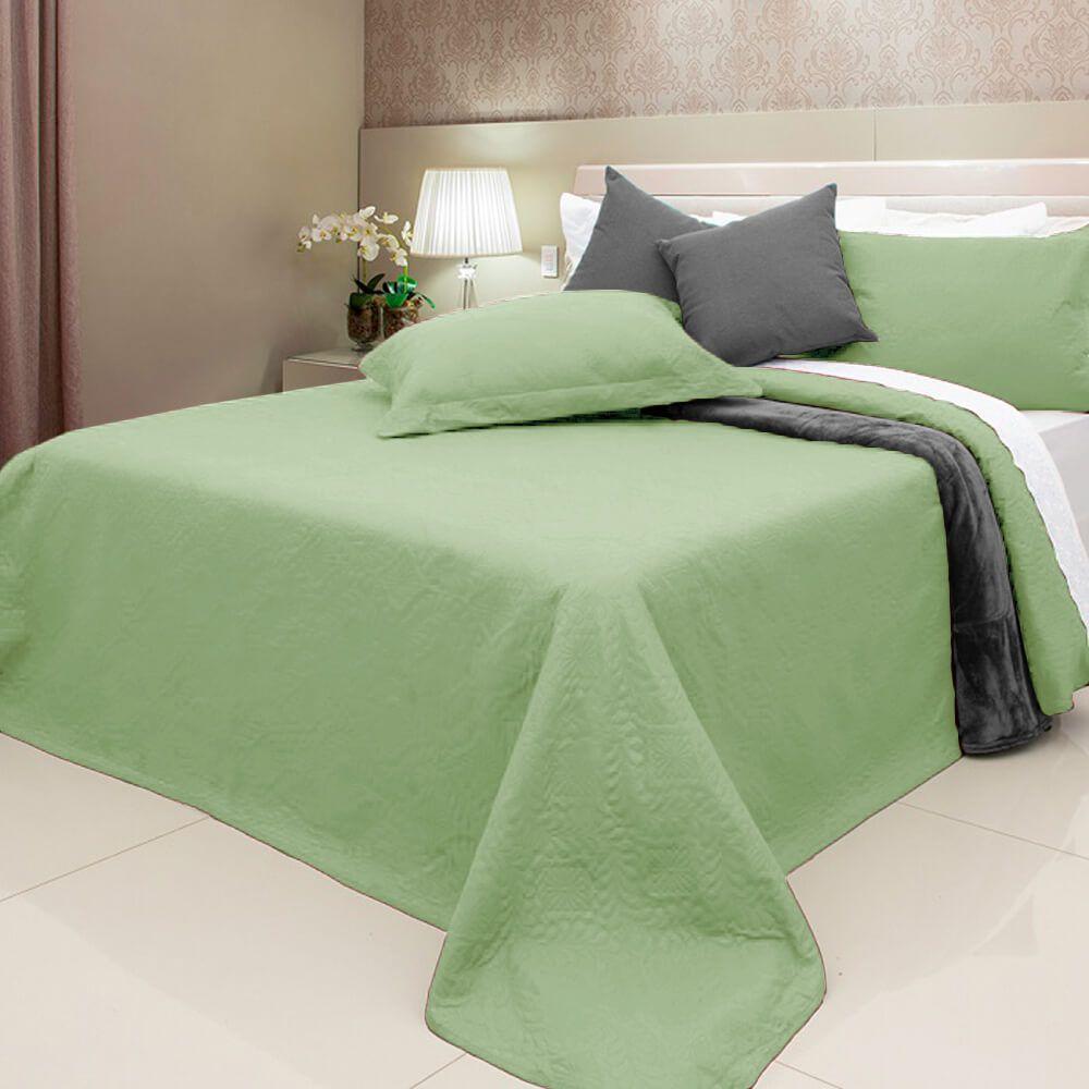 Colcha Casal 3 Peças Elegance Verde