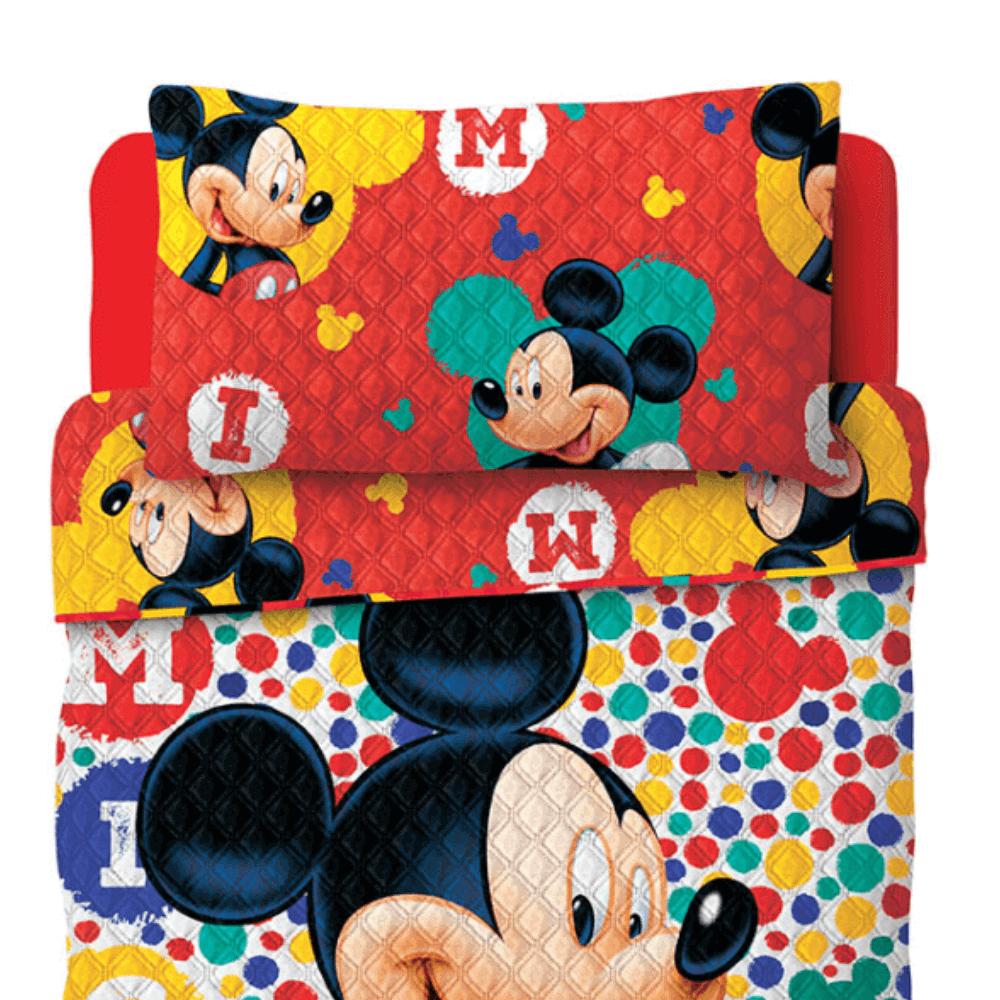 Colcha Infantil 2 Peças Dupla Face Bouti Mickey