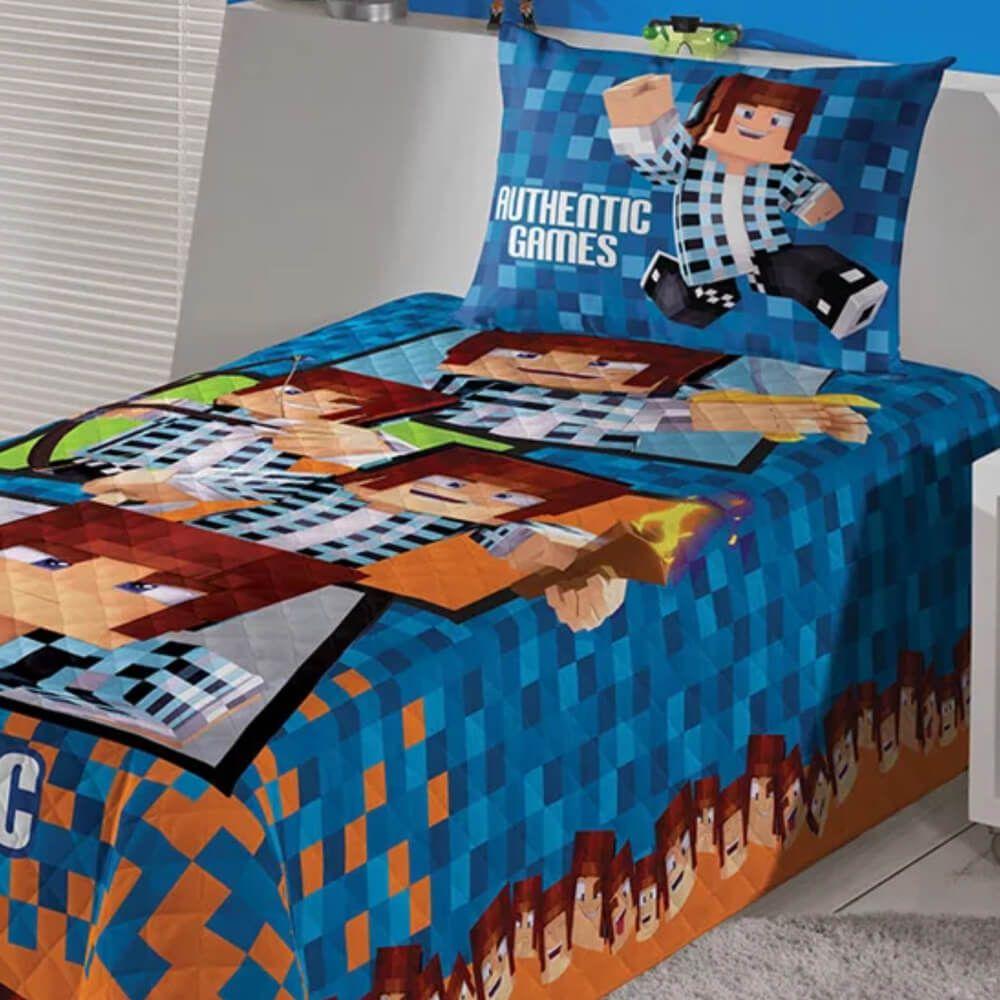 Colcha Infantil Matelassê Authentic Games