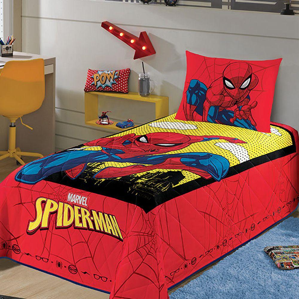 Colcha Infantil Matelassê Homem Aranha