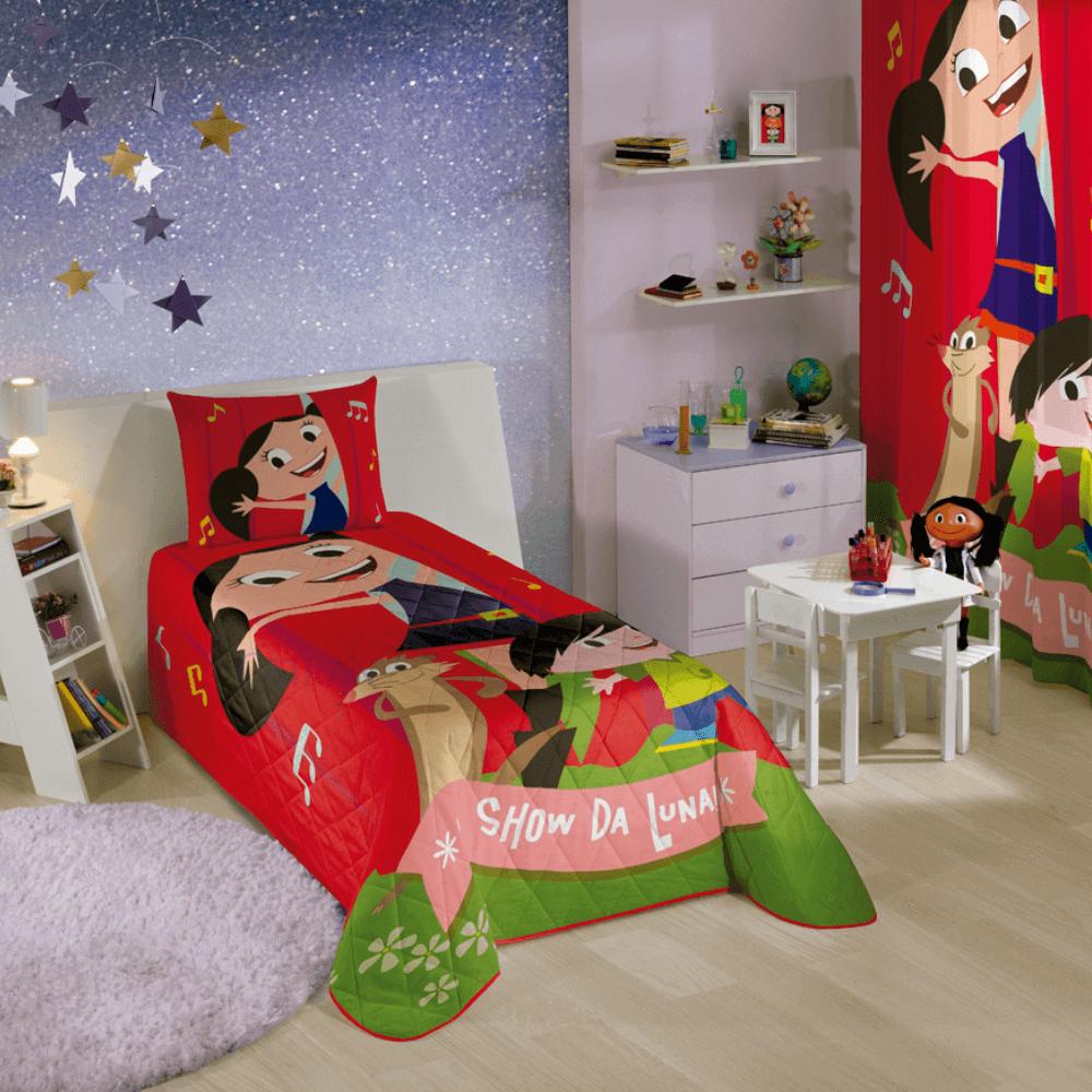 Colcha Infantil Matelassê Show da Luna