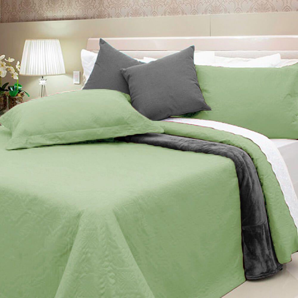 Colcha King 3 Peças Elegance Verde