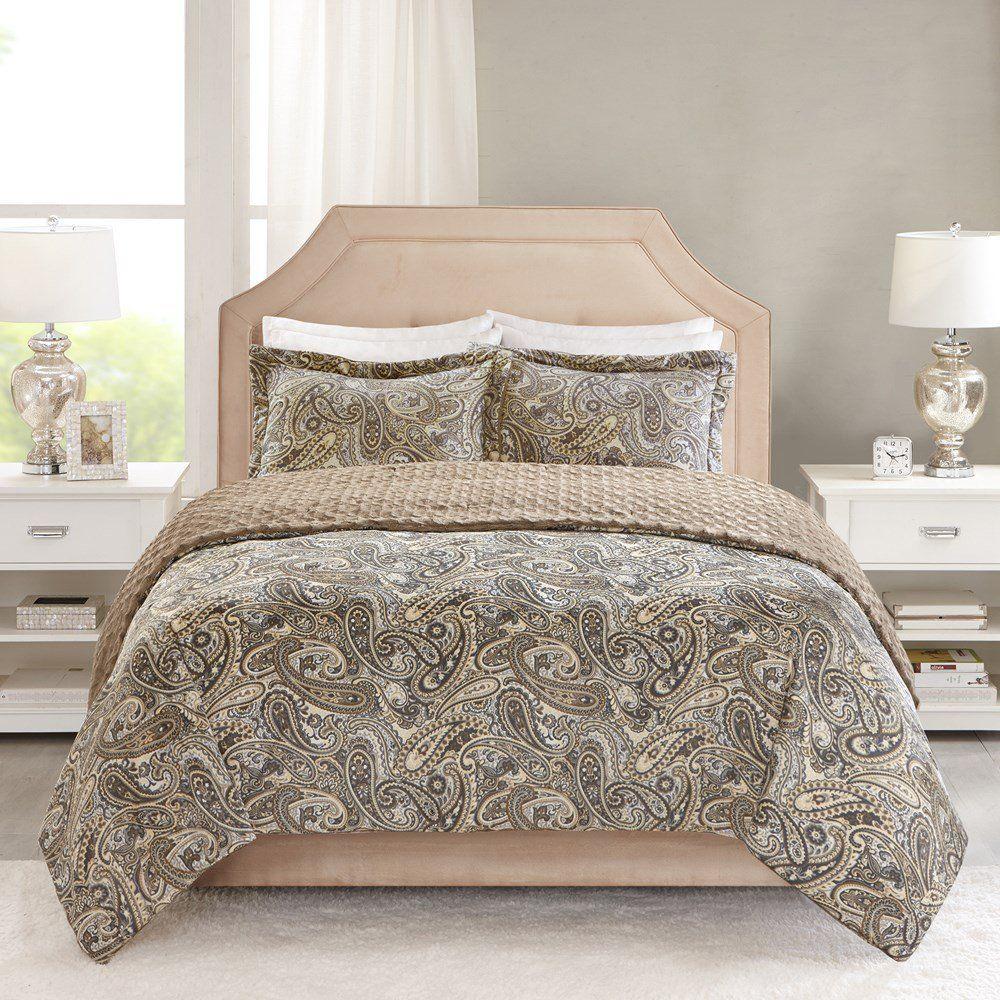 Colcha Queen Corttex Home Design Mink