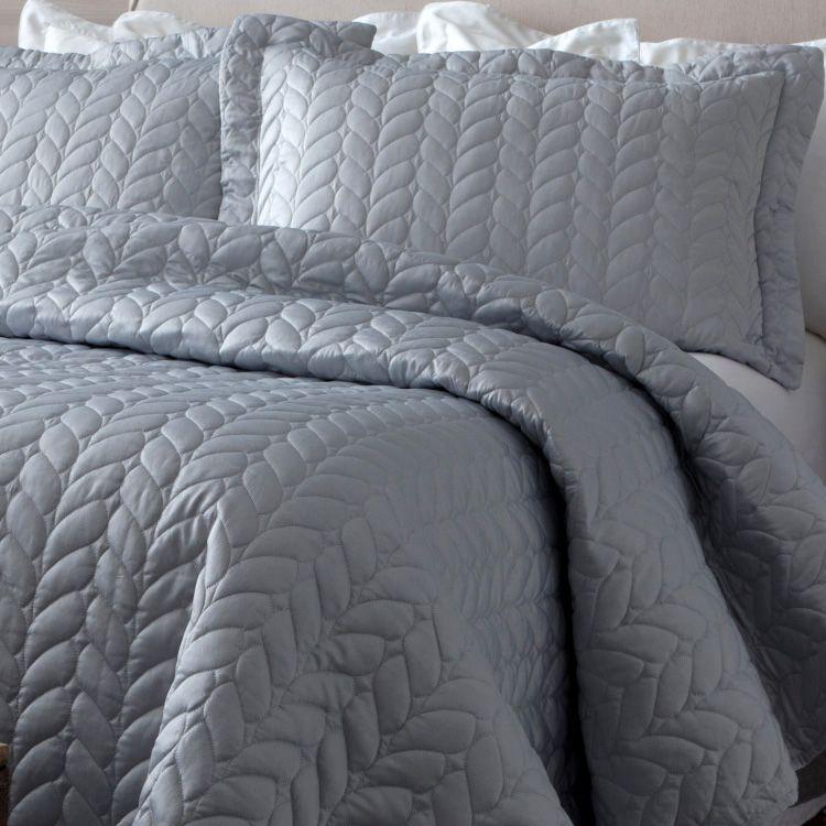 Colcha Queen Corttex Micromatelassê Home Design Prata