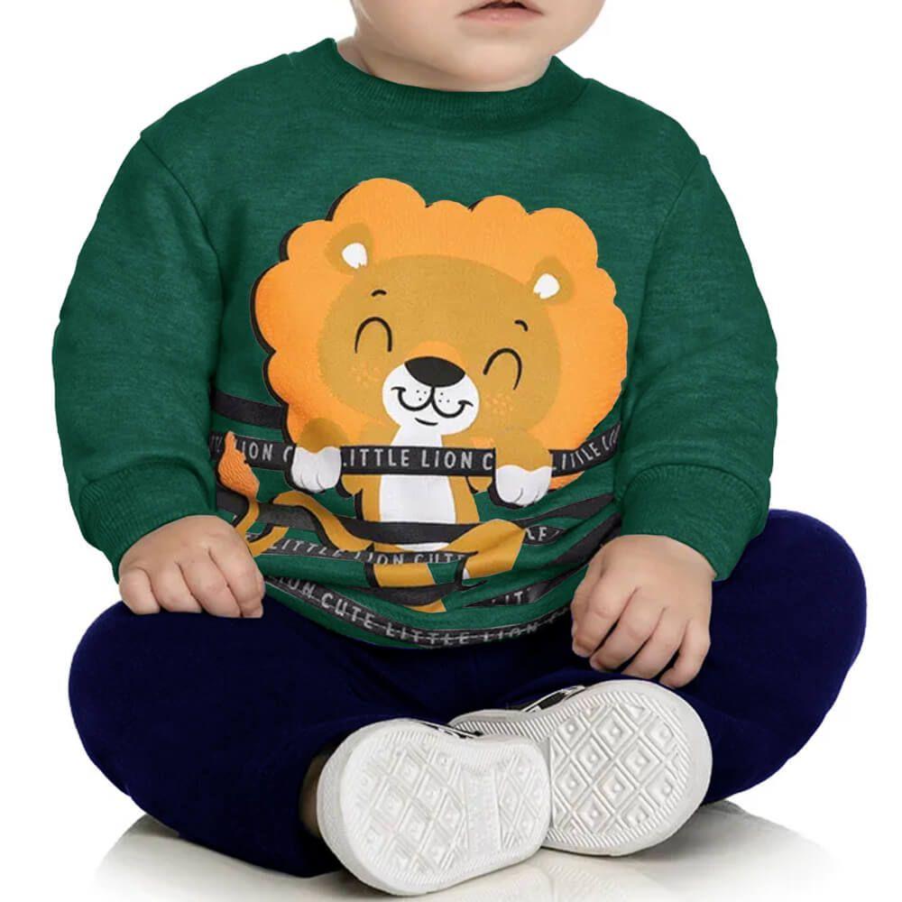 Conjunto Bebê Leão Verde