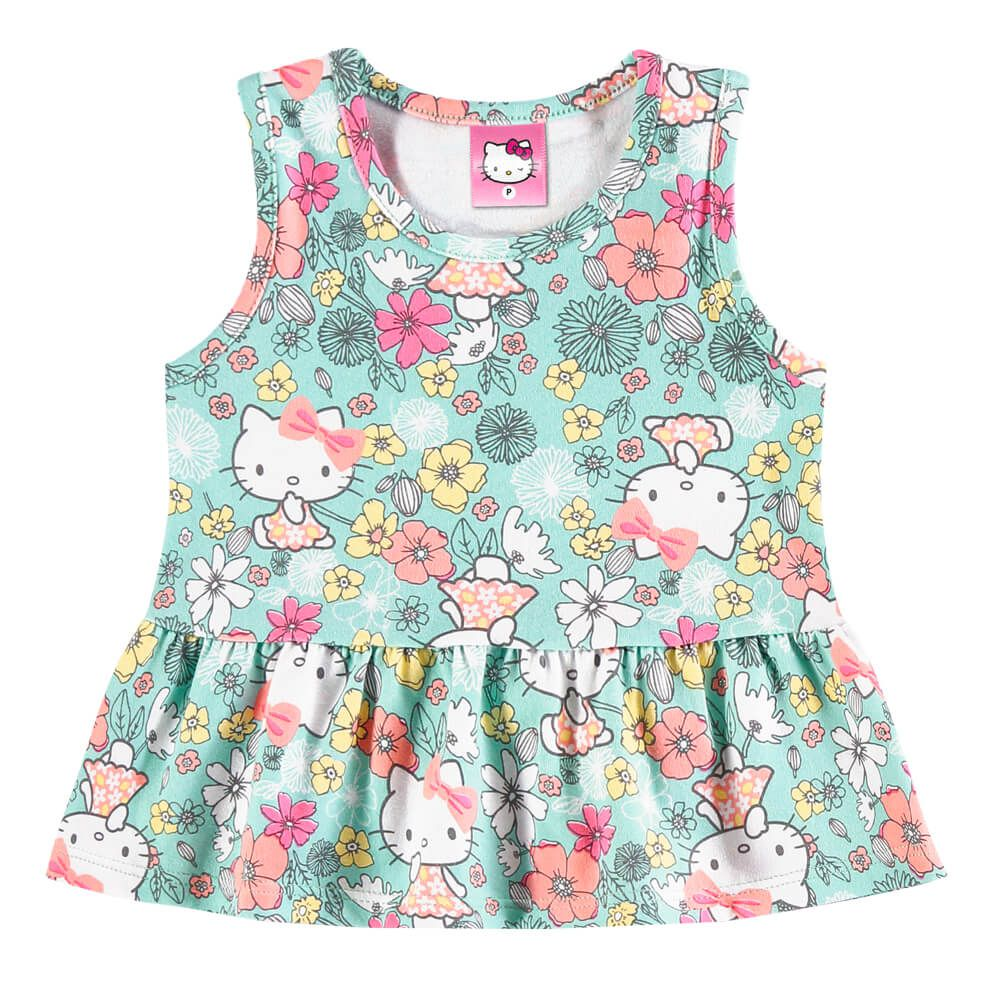 Conjunto Bebê Menina Regata Hello Kitty