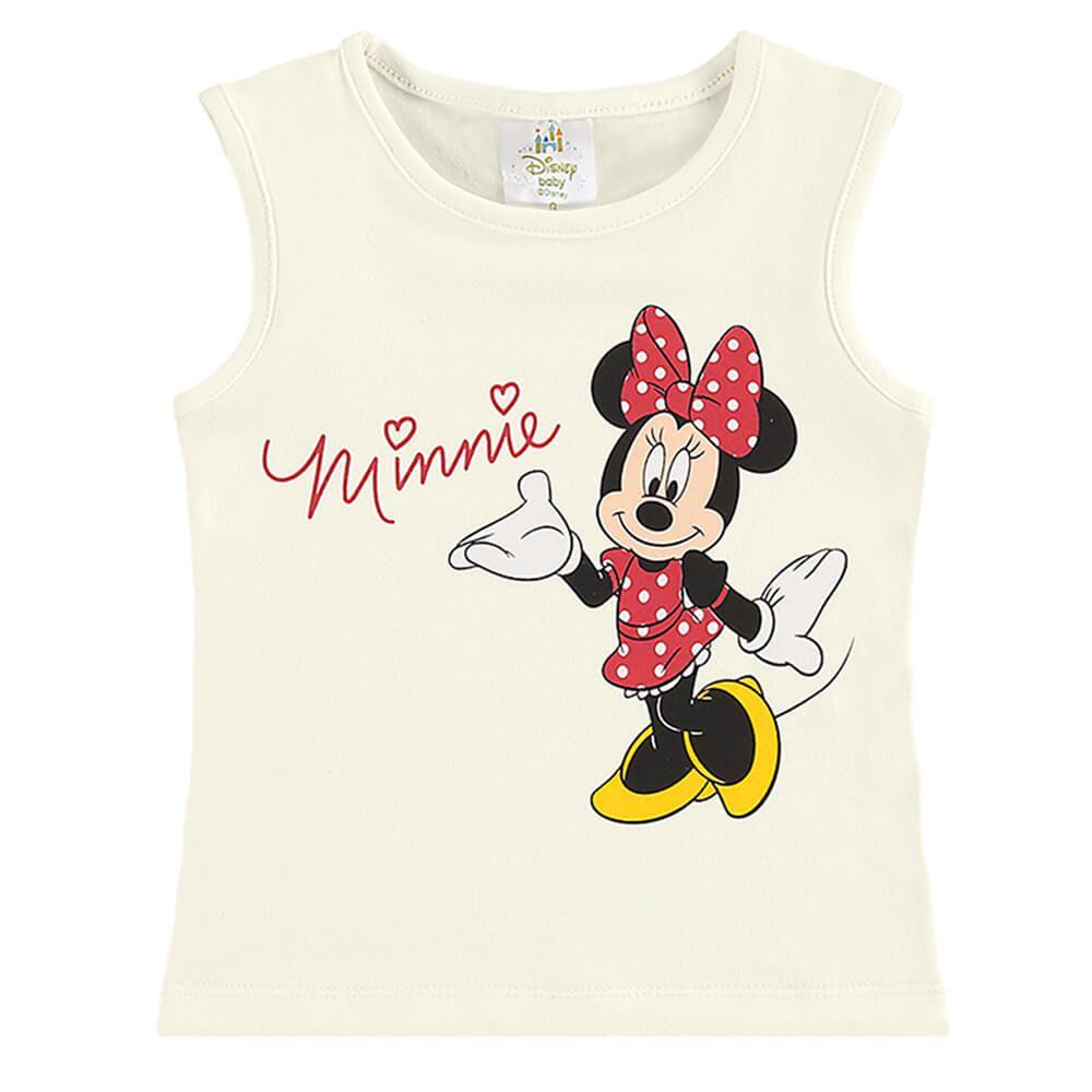Conjunto Bebê Menina Regata Minnie