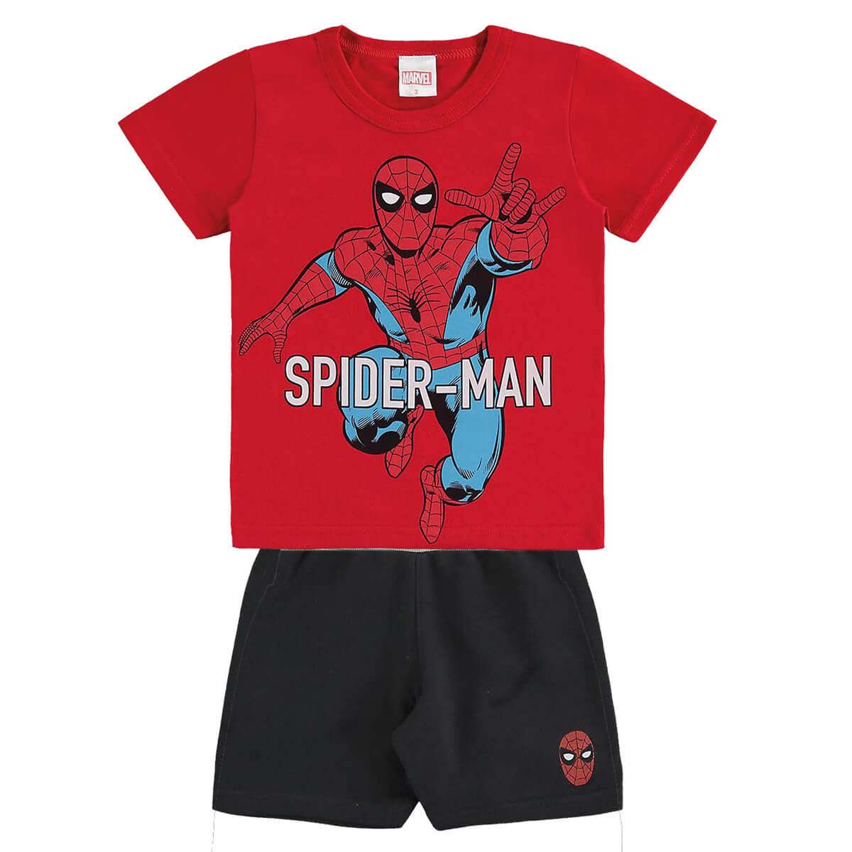 Conjunto Bebê Menino Homem Aranha