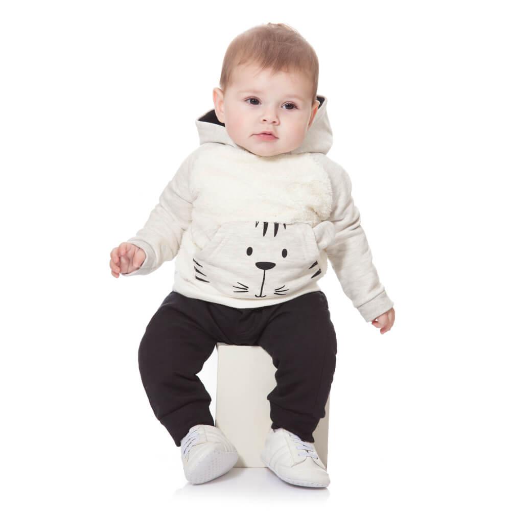 Conjunto Bebê Tigre Creme