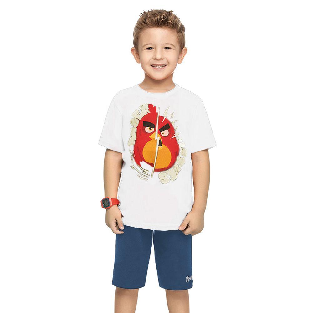 Conjunto Infantil Angry Birds Ssues Branco