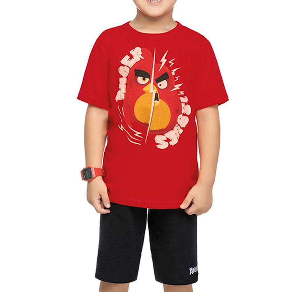 Conjunto Infantil Angry Birds Ssues Vermelho