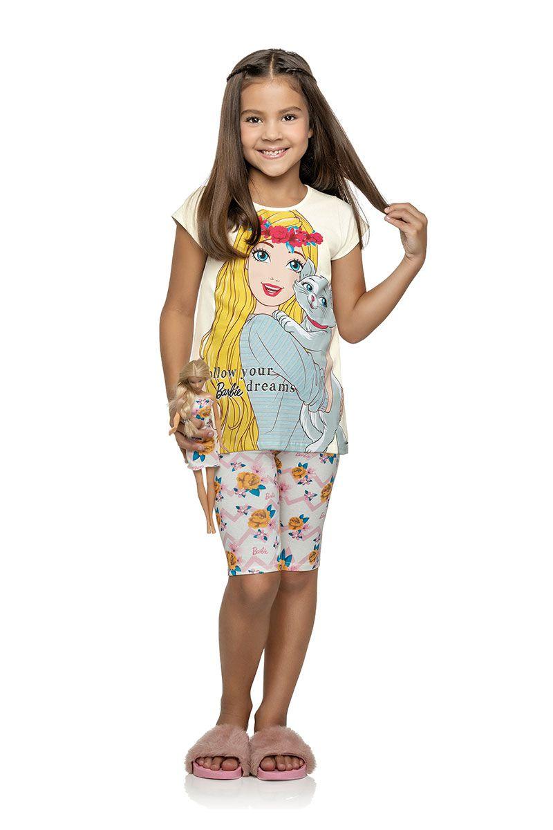 Conjunto Infantil Barbie Branco