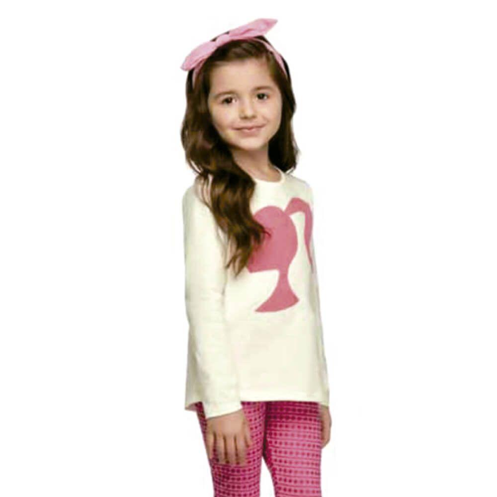 Conjunto Infantil Barbie Legging