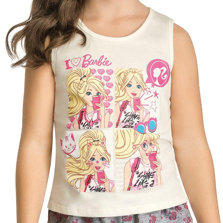 Conjunto Infantil Barbie Selfie