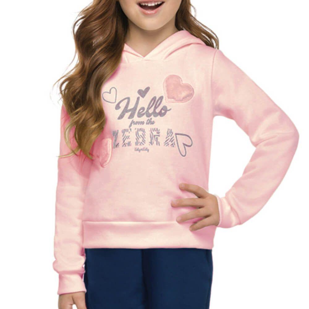 Conjunto Infantil Hello Zebra Rosa