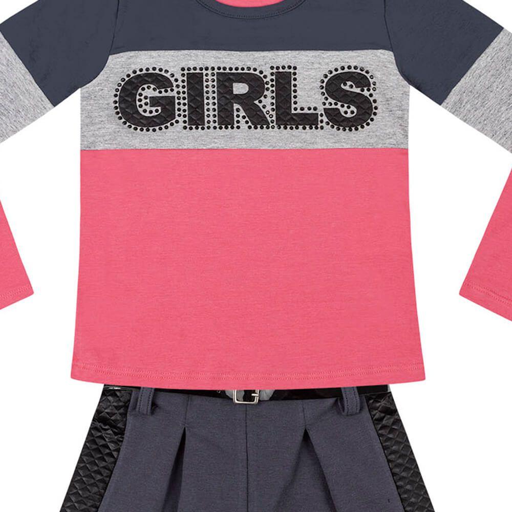 Conjunto Infantil Menina Girls Rosa