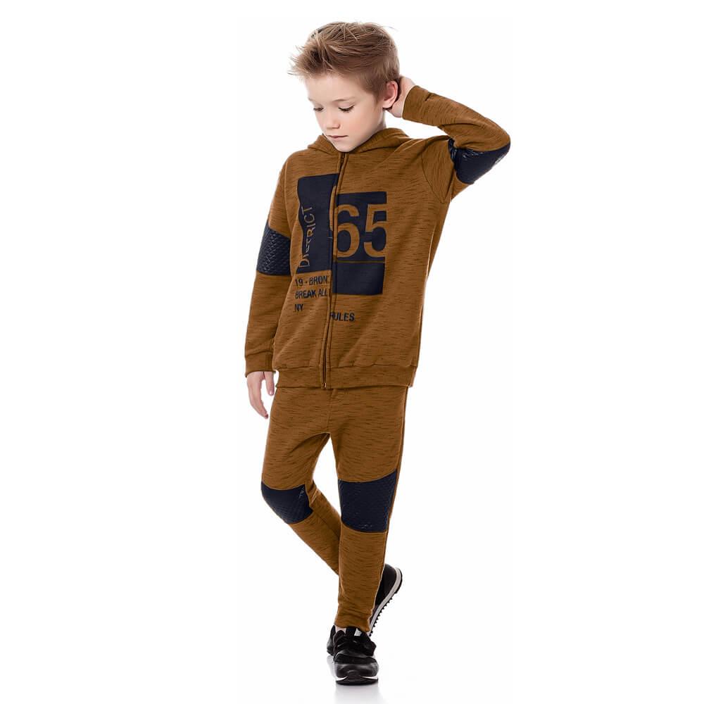 Conjunto Infantil Menino Moletom District 65 Cobre
