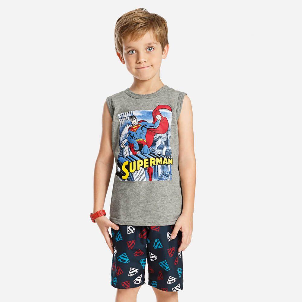 Conjunto Infantil Menino Regata Super Homem