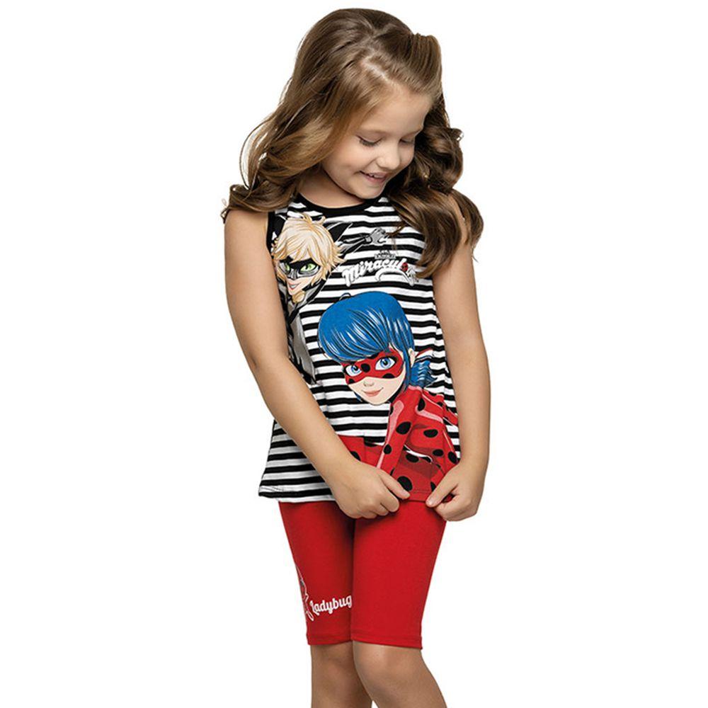 Conjunto Infantil Ladybug Preto