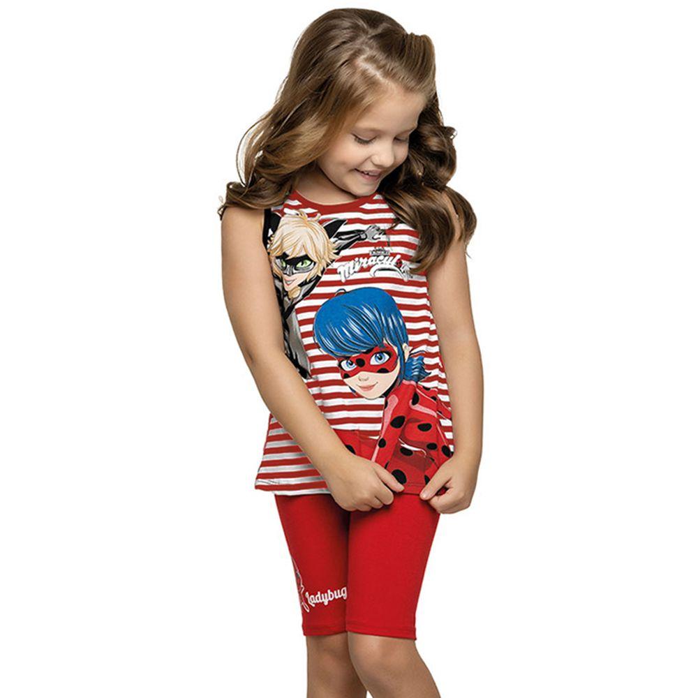Conjunto Infantil Ladybug Vermelho