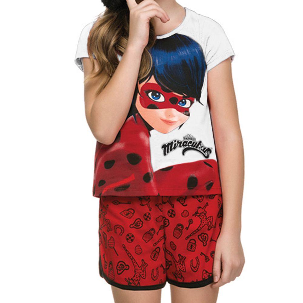 Conjunto Infantil Ladybug Zag Branco