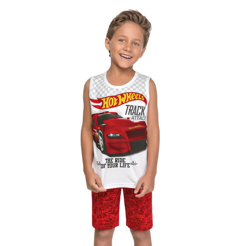 Conjunto Infantil Regata Hot Wheels
