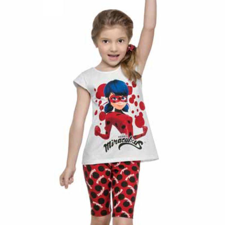 Conjunto Infantil Miraculous Ladybug com Elástico de Cabelo