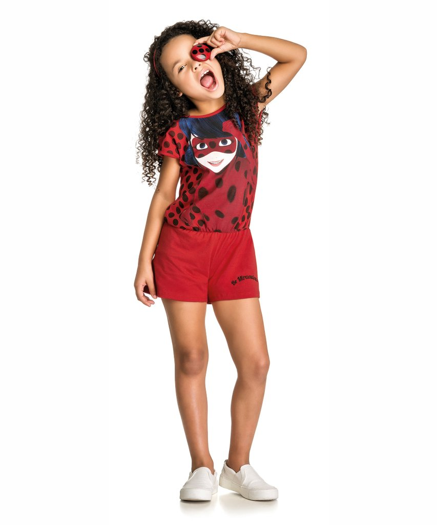 Conjunto Infantil Miraculous Ladybug Vermelho
