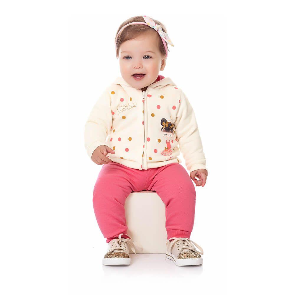 Conjunto Moletom Bebê Menina Ballet