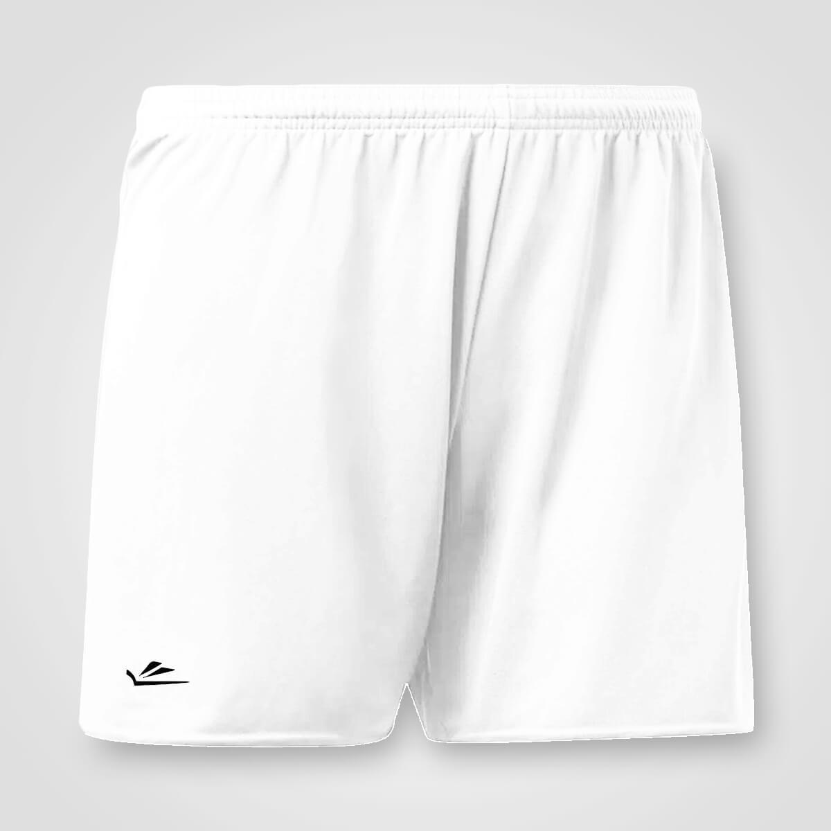 Calção de Futebol Básico Liso Branco