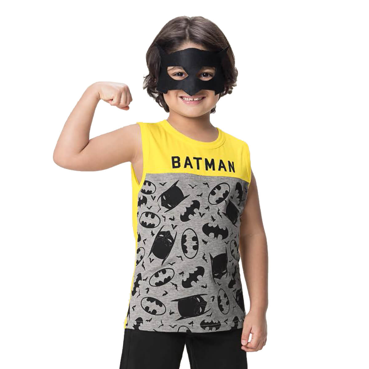 Regata Infantil Menino Batman com Máscara