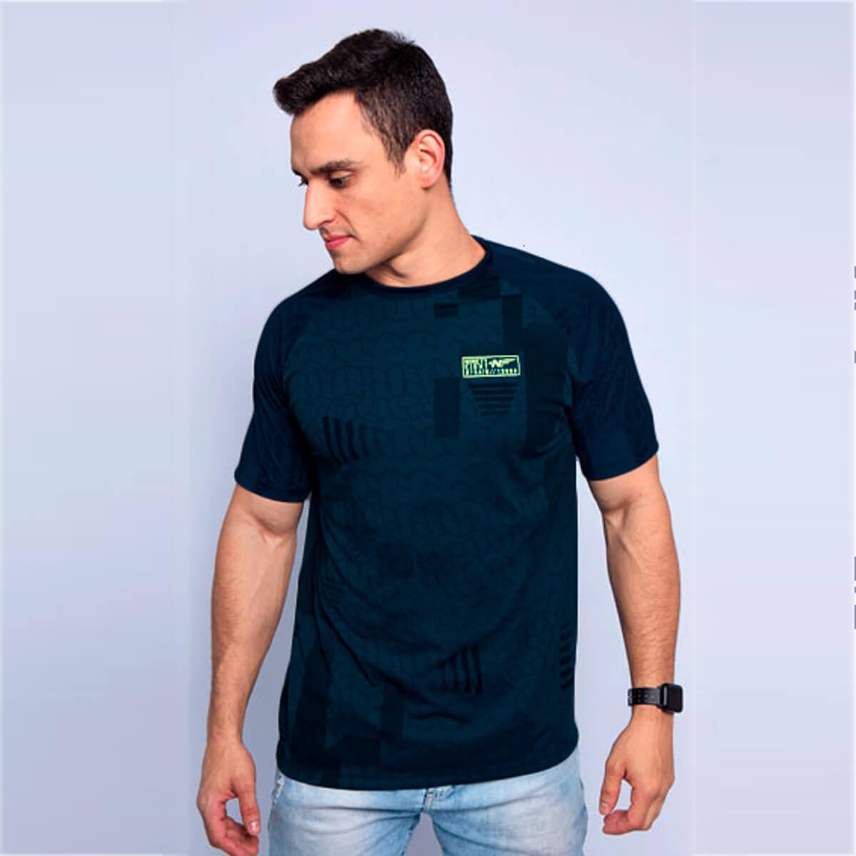 Camiseta Masculina Dry Geo Chumbo