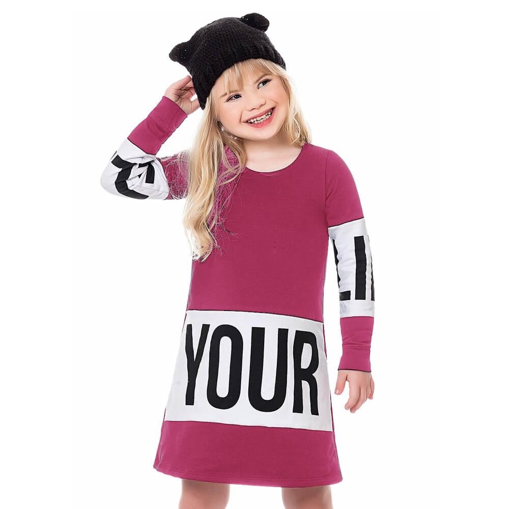 Vestido Infantil Menina Your Pink