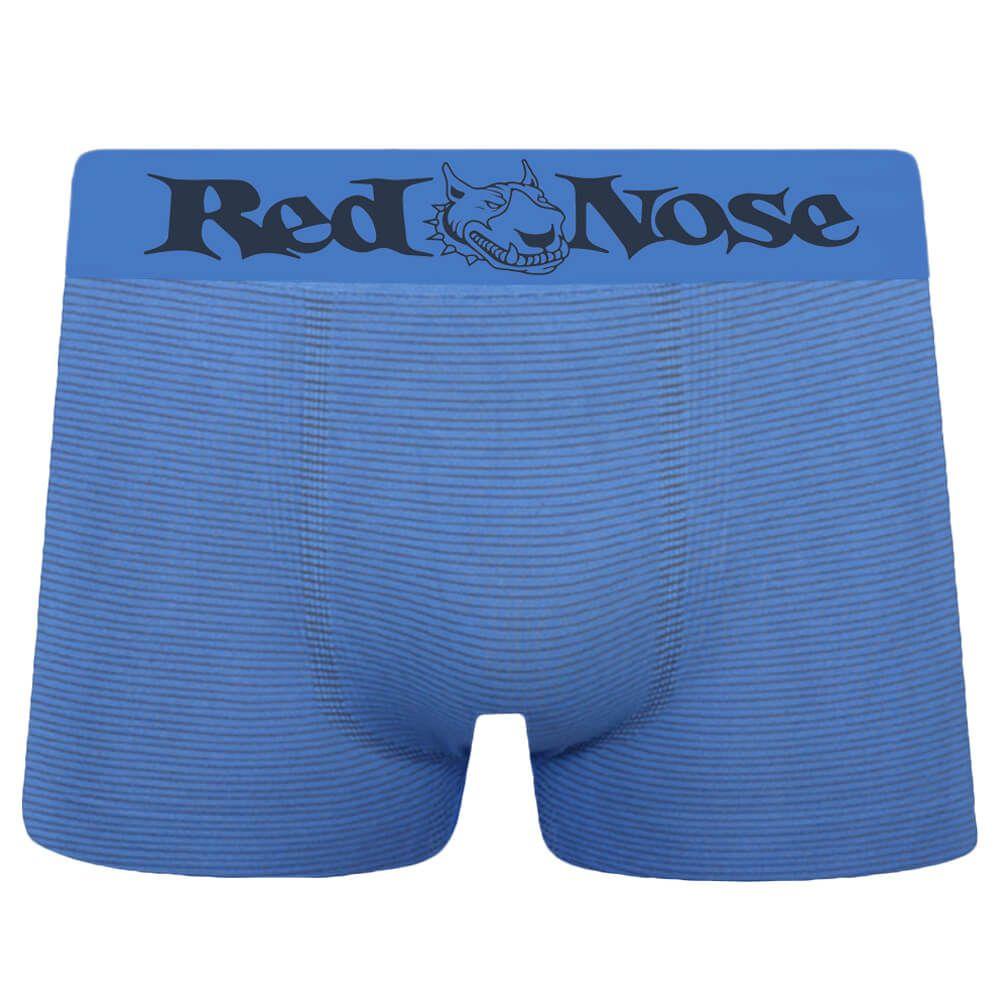 Cueca Boxer Red Nose Microfibra Listra Azul