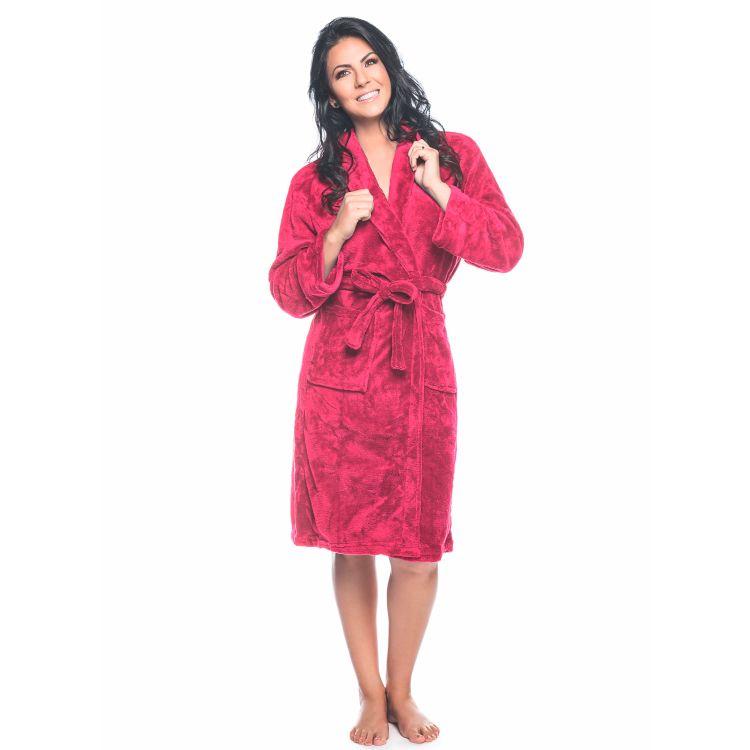 Roupão Adulto Kimono Aveludado Lepper Pink