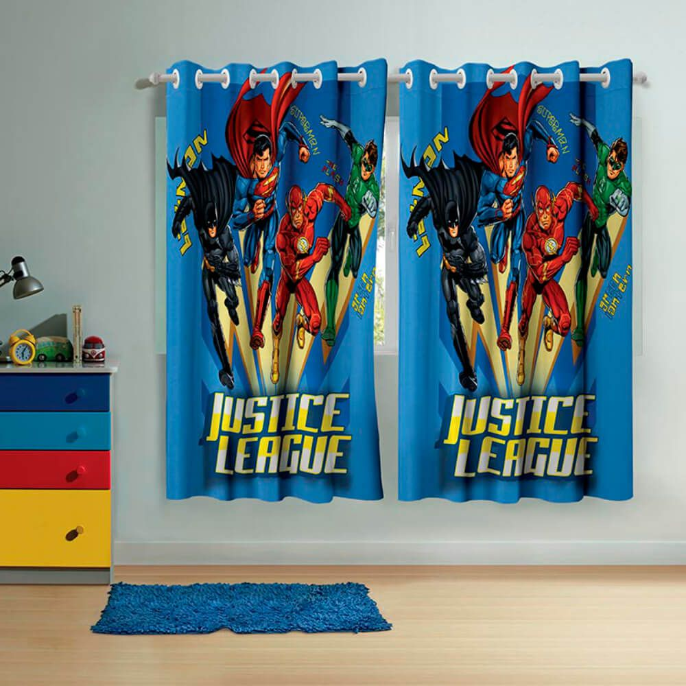 Cortina Infantil Liga da Justiça