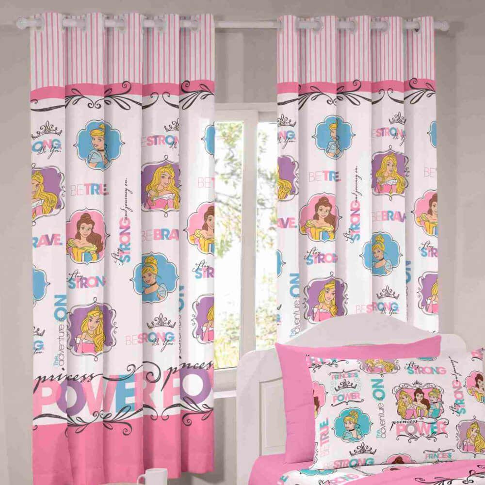 Cortina Infantil Princesas Disney