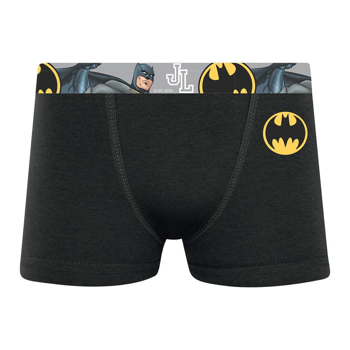 Cueca Boxer Infantil Liga da Justiça Batman Dark Knight