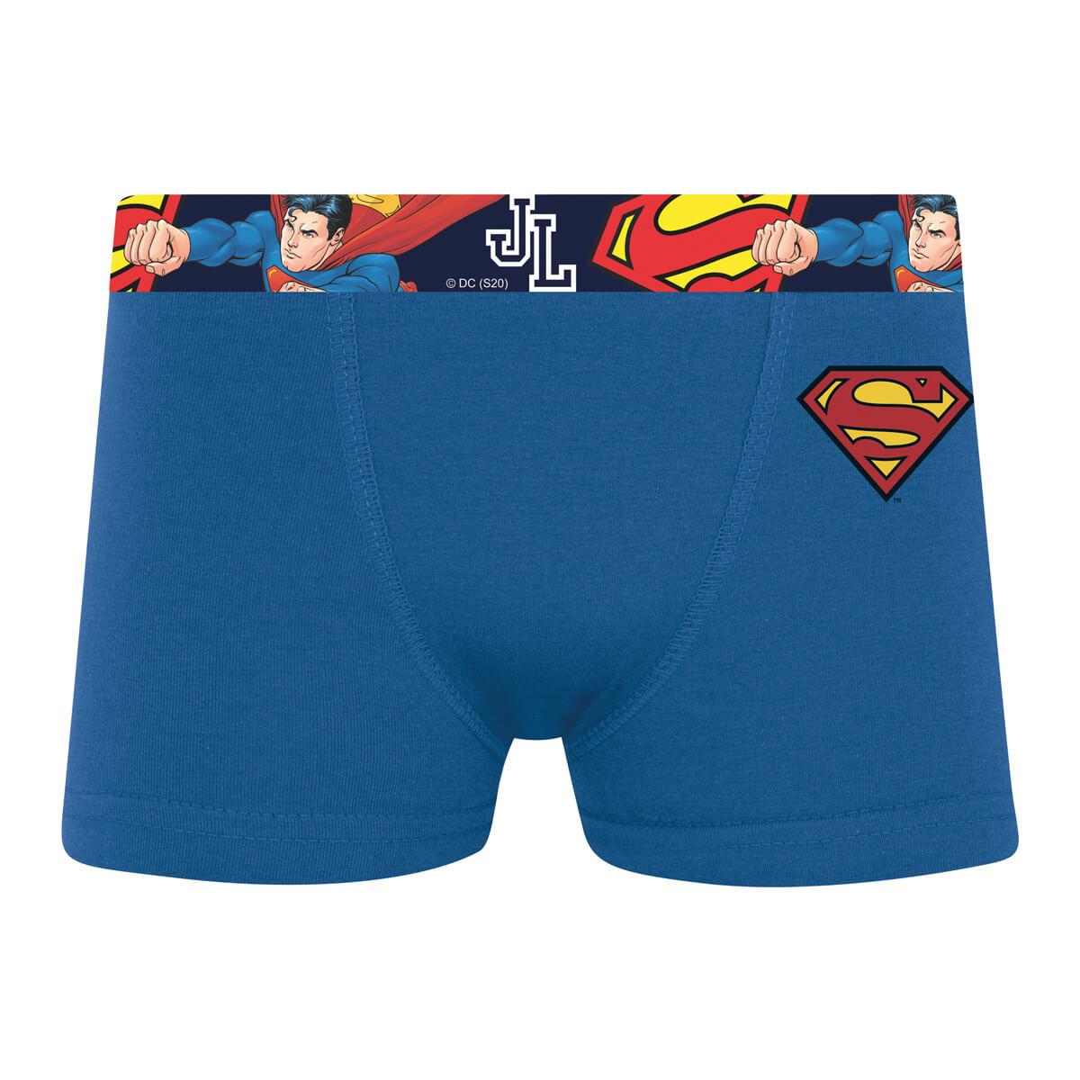 Cueca Boxer Infantil Liga da Justiça Super Homem