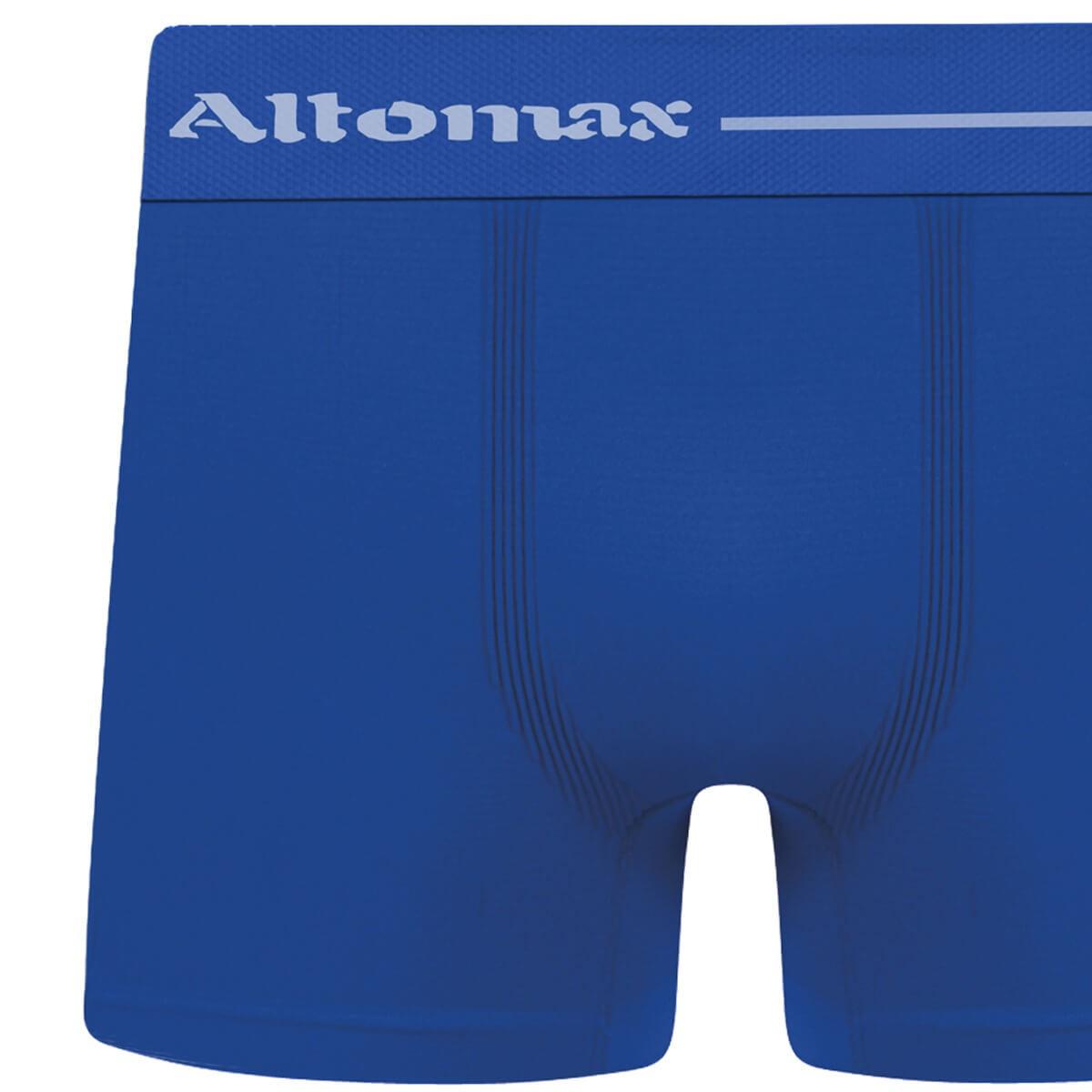 Cueca Boxer Masculina Básica Microfibra Azul